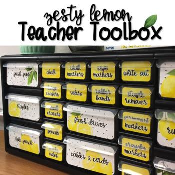 Teacher Toolbox - Zesty Lemon - Farmhouse Decor