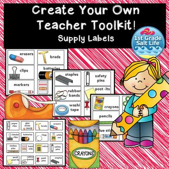 Teacher Toolbox l Teacher Toolkit for supplies