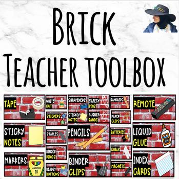 Teacher Toolbox Labels (Brick)