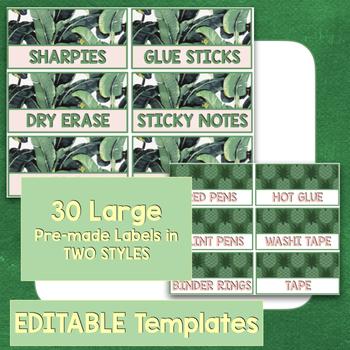 Teacher Toolbox labels EDITABLE - Tropical