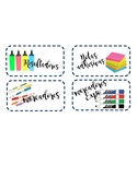 Teacher Toolbox labels in SPANISH