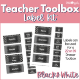 Teacher Toolkit - Black & White Chalkboard (Editable)