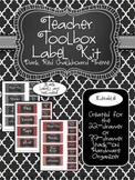 Teacher Toolkit - Dark Red Chalkboard (Editable)
