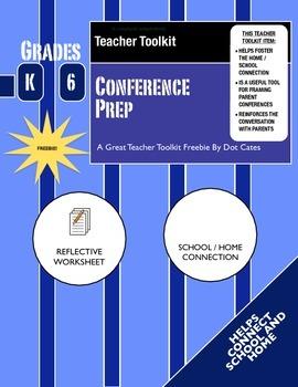 Teacher Toolkit Freebie: Parent Conference Prep Sheet: Gr. K-6