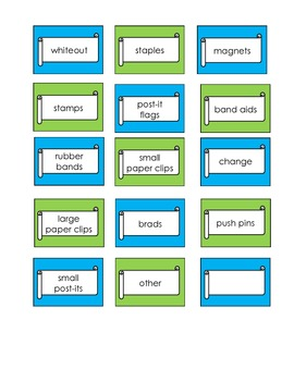 Teacher Toolkit Label - Blue and Green.