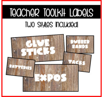 Teacher Toolkit Labels-Camping/Plaid Themed! EDITABLE