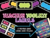Teacher Toolkit Labels - Editable