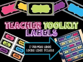 Teacher Toolkit Labels - Editable