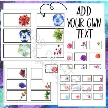 Teacher Toolkit Labels - Watercolor Flower Design - EDITABLE!!