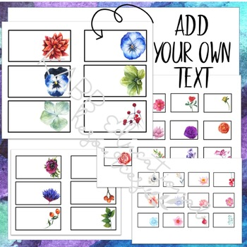 Teacher Toolkit Labels  Watercolor Flower Design