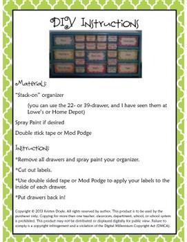Teacher Toolkit - Lime Green Chalkboard (Editable)