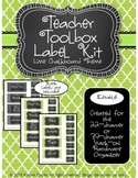 Teacher Toolkit - Lime Green Chalkboard (Editable)