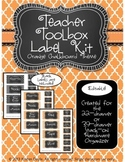 Teacher Toolkit - Orange Sherbet Chalkboard (Editable)