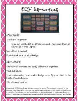 Teacher Toolkit - Pink Chalkboard (Editable)