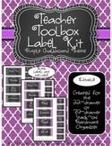 Teacher Toolkit - Purple Chalkboard (Editable)