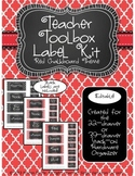 Teacher Toolkit - Red Chalkboard (Editable)