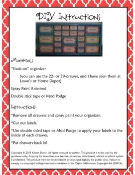 Teacher Toolkit - Red Chalkboard (Editable)