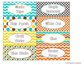 Teacher Toolbox Labels EDITABLE in Candy Colors Theme