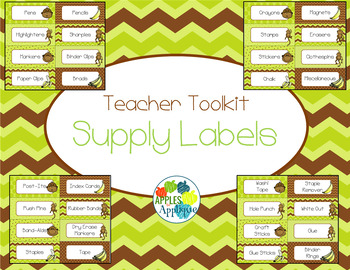 Teacher Toolbox Labels in Monkey Theme