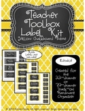 Teacher Toolkit - Yellow Chalkboard (Editable)