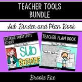 Teacher Tools Bundle: Editable Substitute Binder and Teacher Plan Book