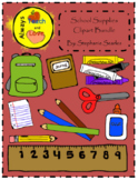 School Supplies Clipart Bundle