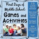 Classroom Management: First Days of Middle School - Bundle (Grades 6, 7, 8, 9)