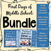 CLASSROOM MANAGEMENT: First Days of Middle School BUNDLE