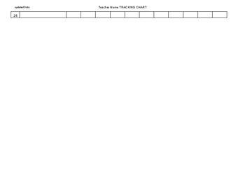 Teacher Tracking Chart editable