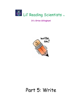 Teacher Training Manual (Module 8) Part 5: Write (OG)