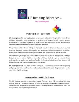Teacher Training Manual (Module 1) Overview of LRS Curriculum (OG)