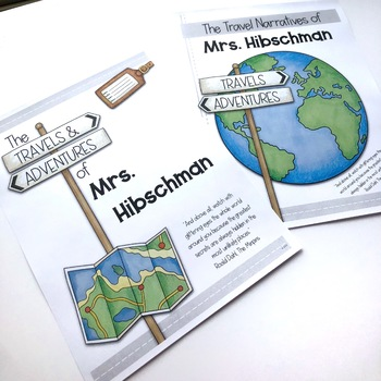 Teacher Travel Narratives: A Classroom Book (EDITABLE)