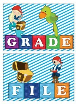 Teacher Tray Labels Pirate Theme