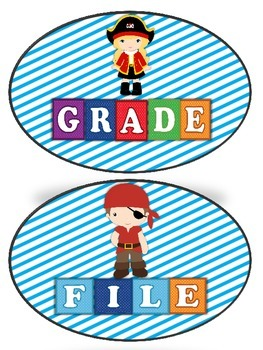 Teacher Tray Labels Pirate Theme 2