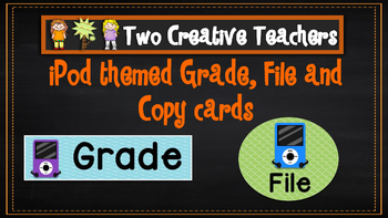 Teacher Tray Labels iPodTheme