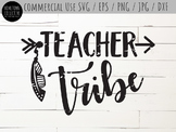 Teacher Tribe Cutting File and Clip Art - SVG, EPS, PNG, JPG, DXF