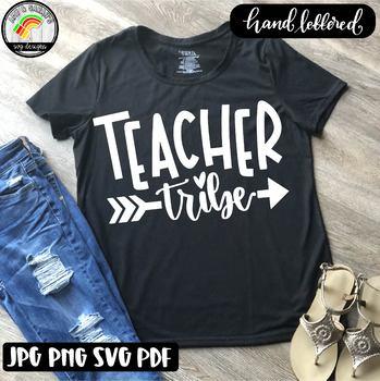 Teacher Tribe SVG Design