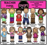 Teacher Types Clip Art Bundle {Educlips Clipart}