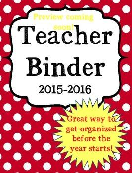 Back to School Ultimate Teacher Binder in RED