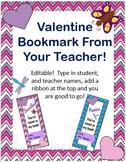 Teacher Valentine Bookmarks