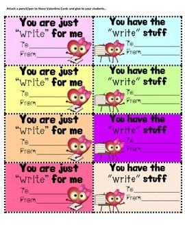 Teacher Valentine Cards