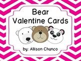 Teacher Valentine Cards- Bear Theme