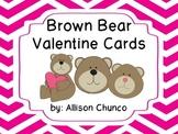 Teacher Valentine Cards-Brown Bears