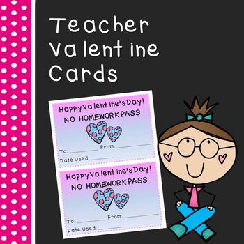 Teacher Valentine Homework Pass (***FREEBIE***)