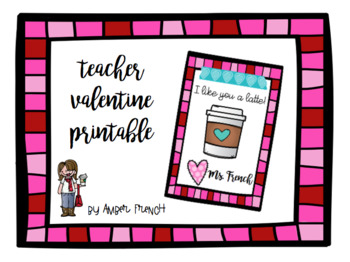 photograph relating to Teacher Valentine Printable known as Trainer Valentine Printable through Amber French Instructors Fork out