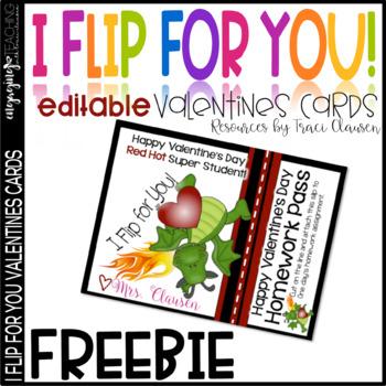FREE Teacher Valentines Day Card and Homework Pass