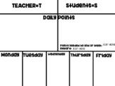 Teacher Versus Student Tracking Chart-Editable