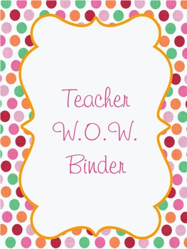 Teacher W.O.W. Binder dividers