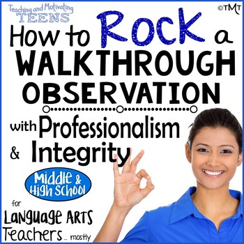 For Teachers - Walkthrough Observations with Professionalism & Integrity