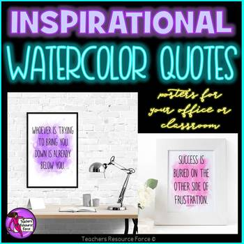 Teacher Watercolor Quote Posters BUNDLE for your office or the teacher's lounge